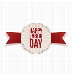 Happy labor day paper realistic banner template vector