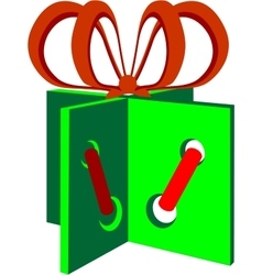Holiday giftbox in color 01 vector image