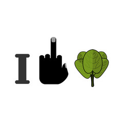 I hate spinach and green leaf lettuce fresh vector