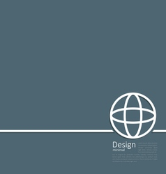 Logo of earth or globe or network structure vector