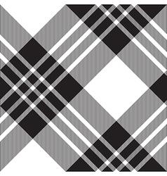 Macgregor tartan black white diagonal seamless vector