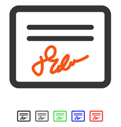 Mail attachment flat icon vector