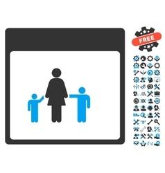 Mother calendar page icon with bonus vector