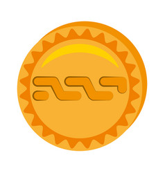 Nxt money golden coin vector
