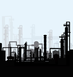 Oil refinery vector