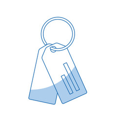 paper tag with ring market empty icon vector image