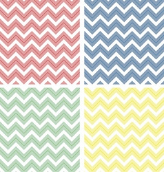Pastel colored chevron pattern vector