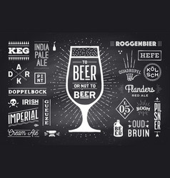 poster to beer or not to beer vector image