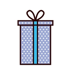 Purple gift box present ribbon vector