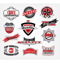 retro style emblems vector image vector image