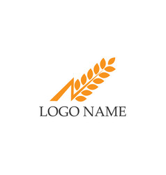 Rice food meal logo and symbols template icons vector
