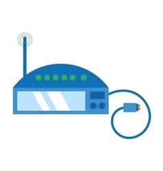 router internet connection modem usb cable vector image