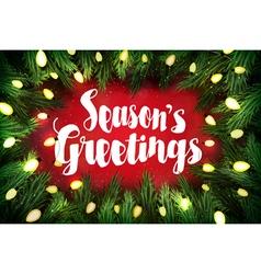 Seasons greetings christmas greeting card vector