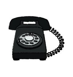 telephone communication dial electronic device vector image