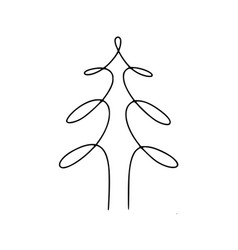tree hand-drawn line vector image