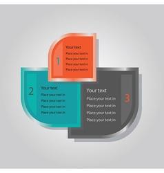 Triple banner inforaphic vector