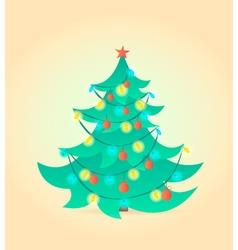 Christmas tree Cartoon style vector image