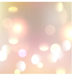 Gold glitter bokeh lights background defocused vector