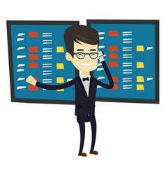 stockbroker at stock exchange vector image