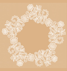 White lace background vector