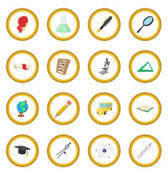Education cartoon icon circle vector