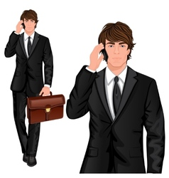 Young businessman standing vector