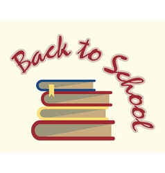 Back to school books vector