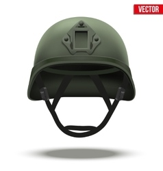Military tactical helmet green color vector