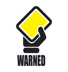Warned icon vector