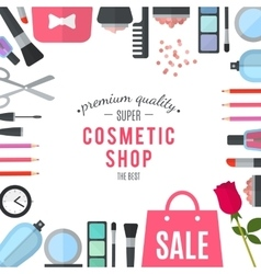 Professional quality cosmetics shop vector