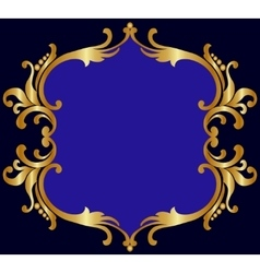 Royal golden frame vector