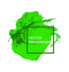 Green Ink brush paint stroke with rough edges vector image