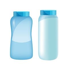 Powder bottle set vector