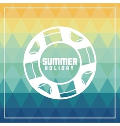 Summer design float icon polygon vector