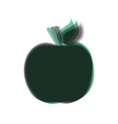 Apple sign colorful icon vector