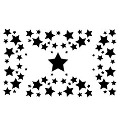 Black star abstract backgrund collection vector