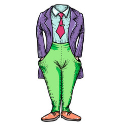 Cartoon image of headless man vector