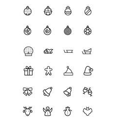 Christmas line icons 2 vector