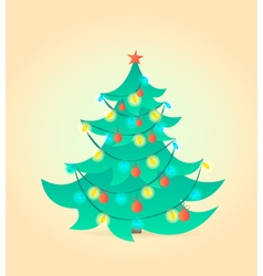 Christmas tree Cartoon style vector image