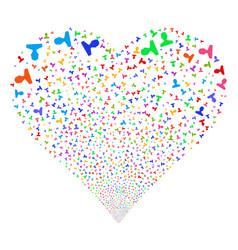 Customer fireworks heart vector
