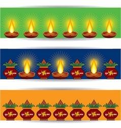 Diwali banner for website vector