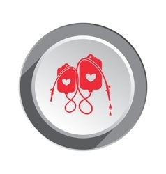 Enema tool icon spa weekends symbol for couples vector