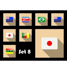 Flat icon of flags vector