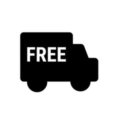 free delivery icon isolated on white background vector image