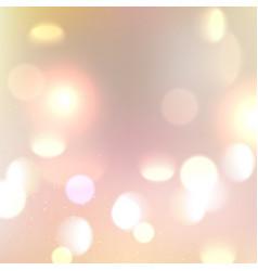 gold glitter bokeh lights background defocused vector image