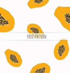 Hand drawn papaya seamless pattern vector