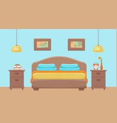 Hotel room interior vector