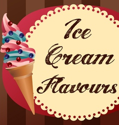 icecream retrobg vector image vector image