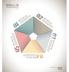Infographic design - original paper vector image vector image