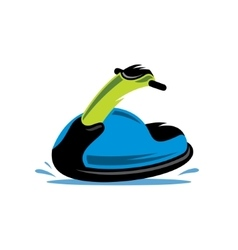 Jet ski cartoon vector